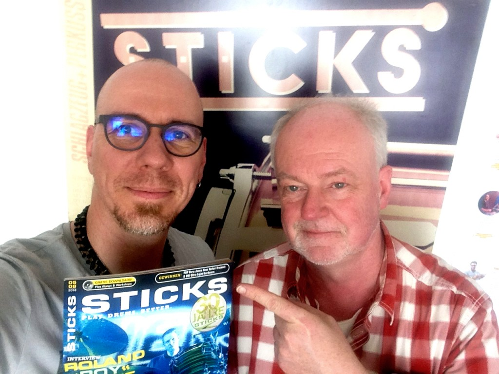 Andree & STICKS-Chefredakteur Axel Mikolajczak in Köln am 9. Mai 2018